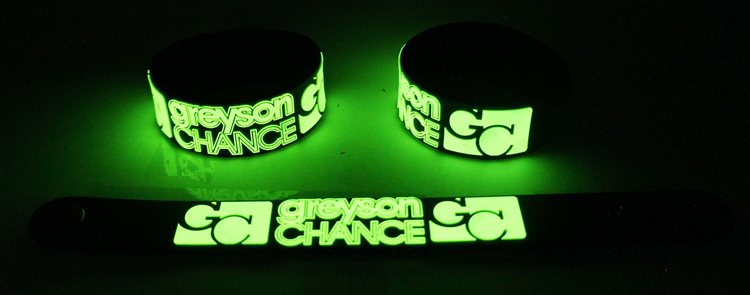 Details About Greyson Chance New Glow In The Dark Rubber Bracelet Wristband Gg250